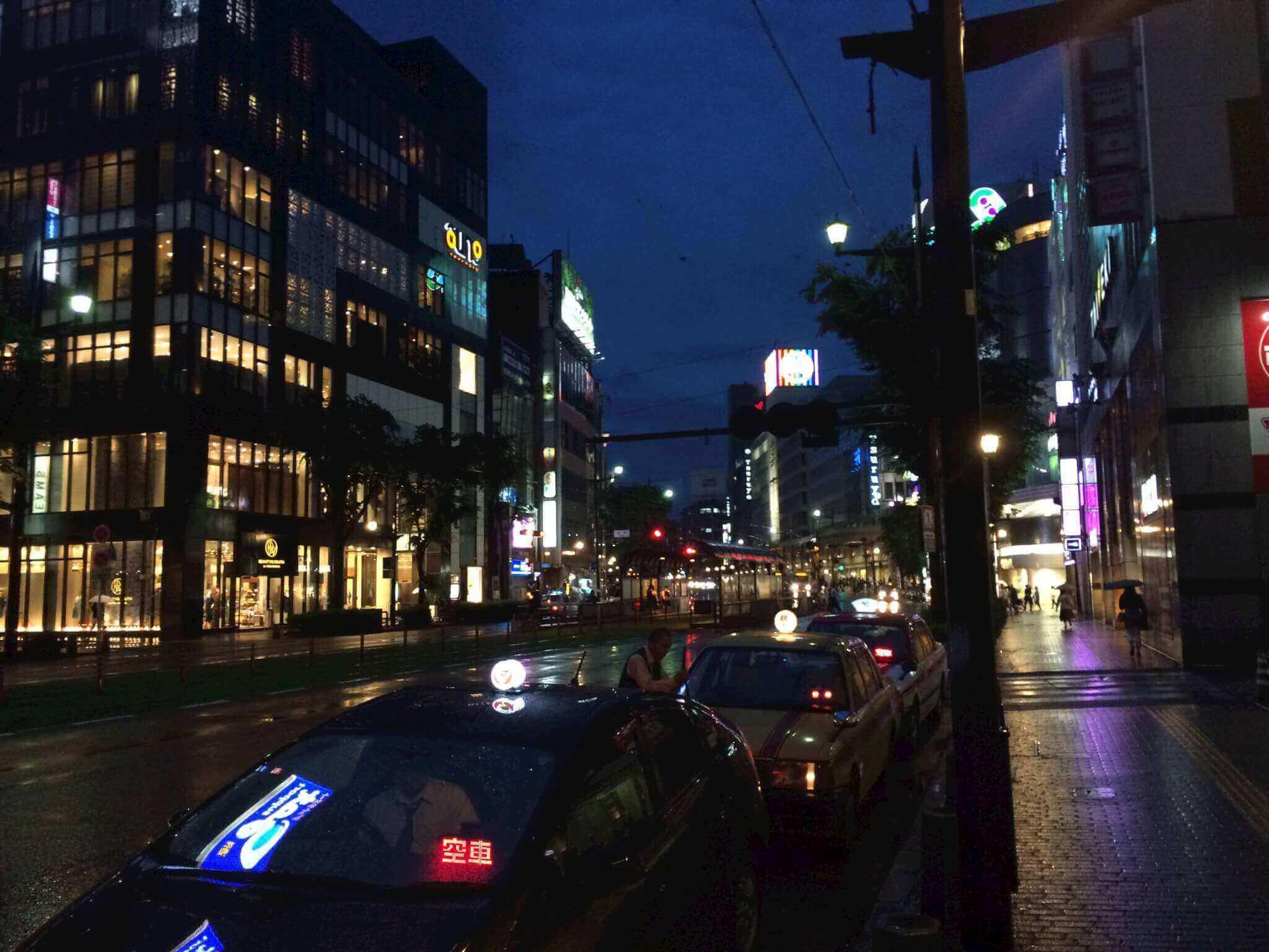 夜の熊本市内
