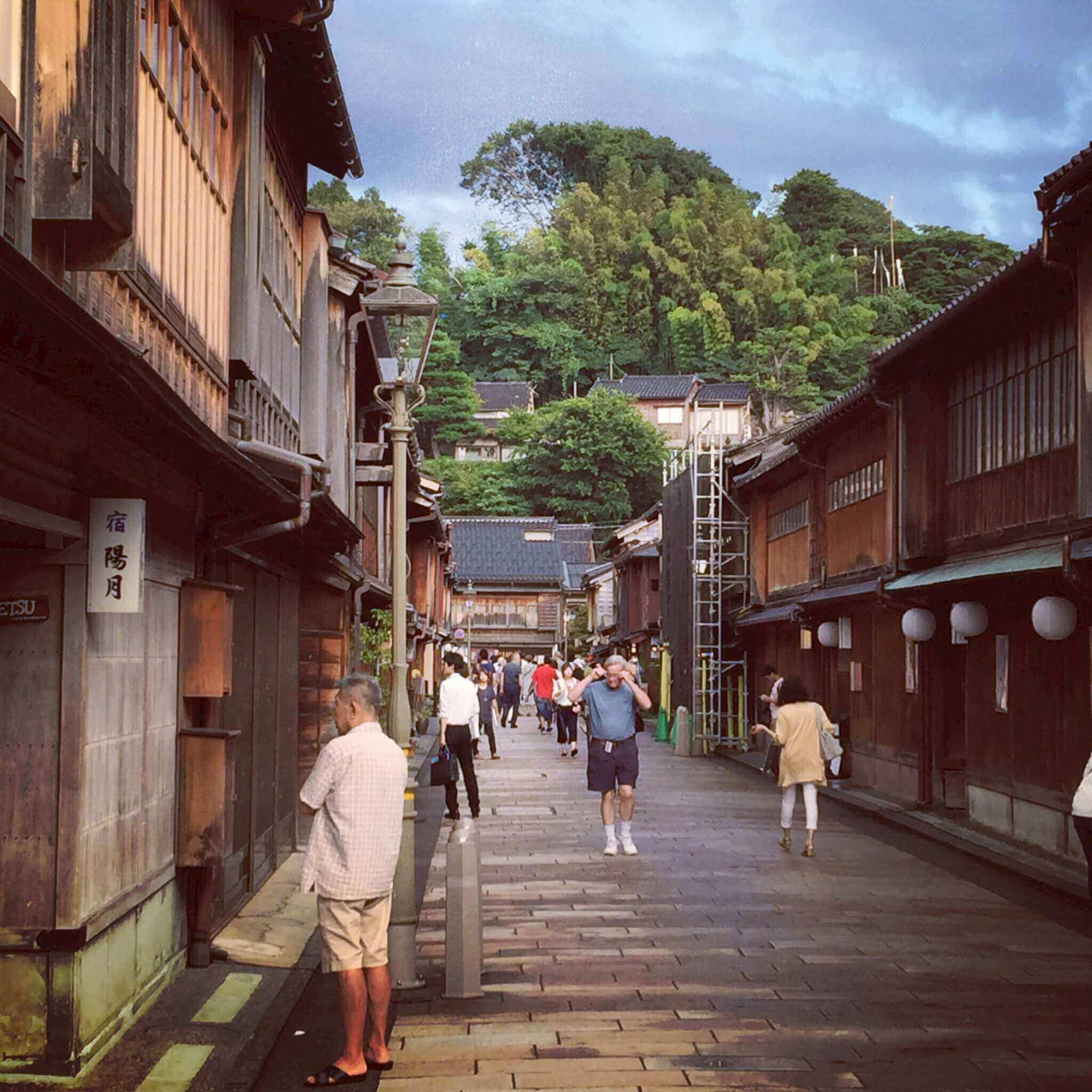 金沢・ひがし茶屋街の風景
