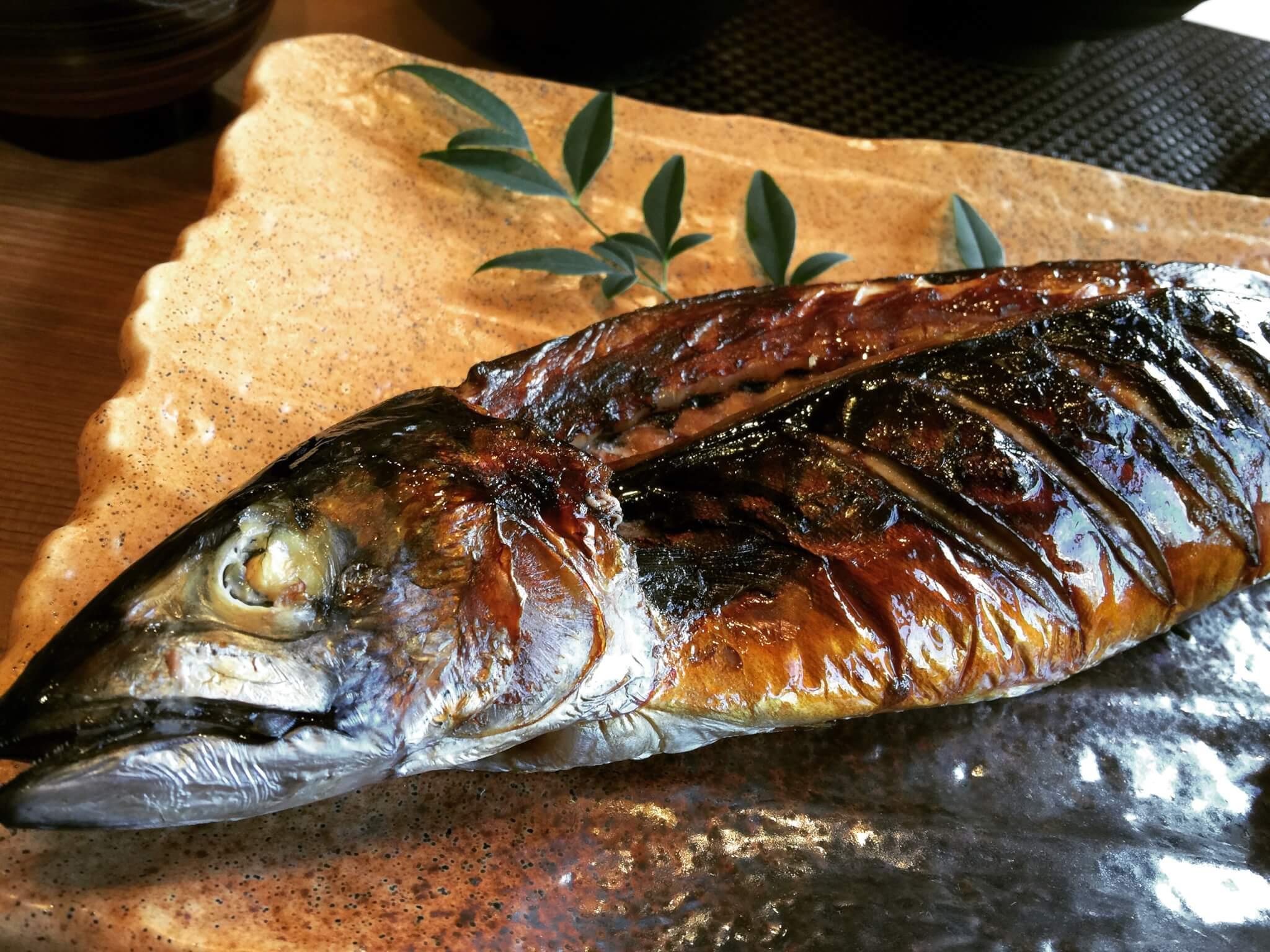 うおまさカフェで食べられる絶品の焼き鯖