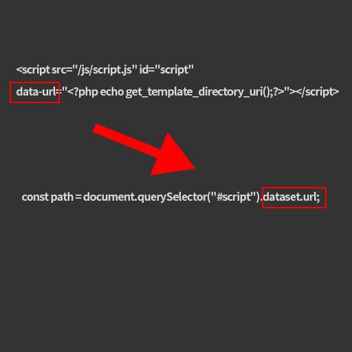 WordPressで外部JSファイルでPHPのデータを扱うようにできる方法