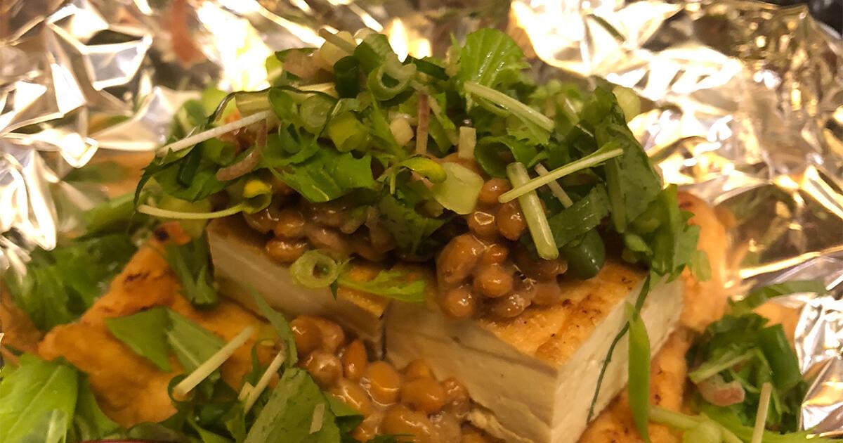 白金の鉄板劇場まぐれで食べた厚揚げ納豆