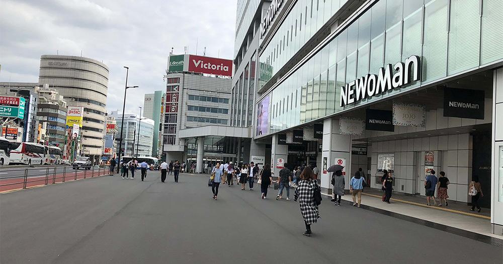 JR新宿駅南口の手前