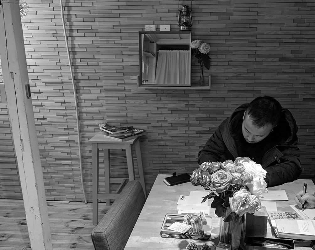 TOMOSHIBI POSTワークショップで手紙を書く