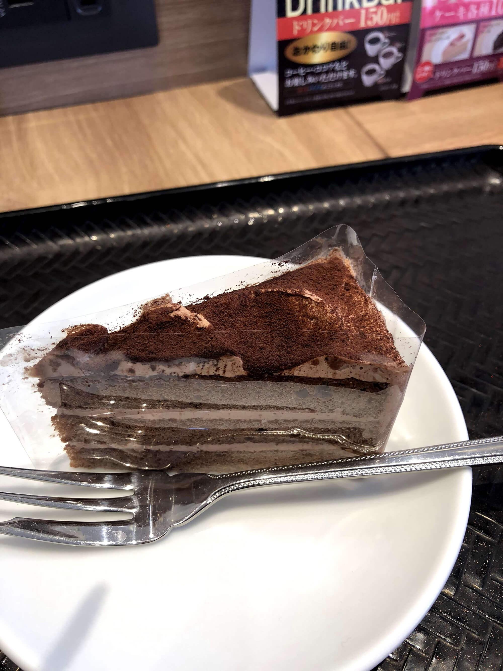 吉野家のチョコレートケーキ