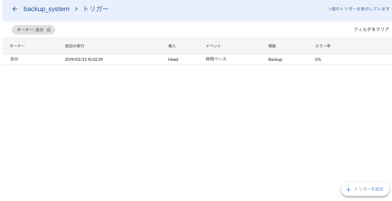 Google Apps Scriptでトリガーの設定2