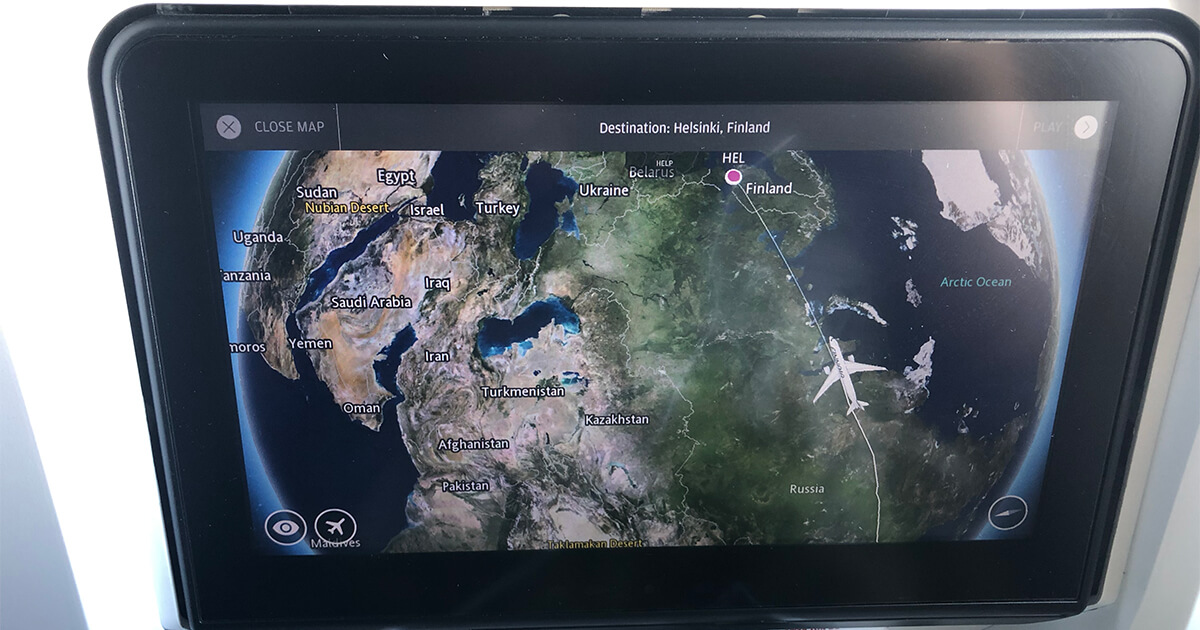 FINN AIR(フィンエアー)機内座席にあるパネル