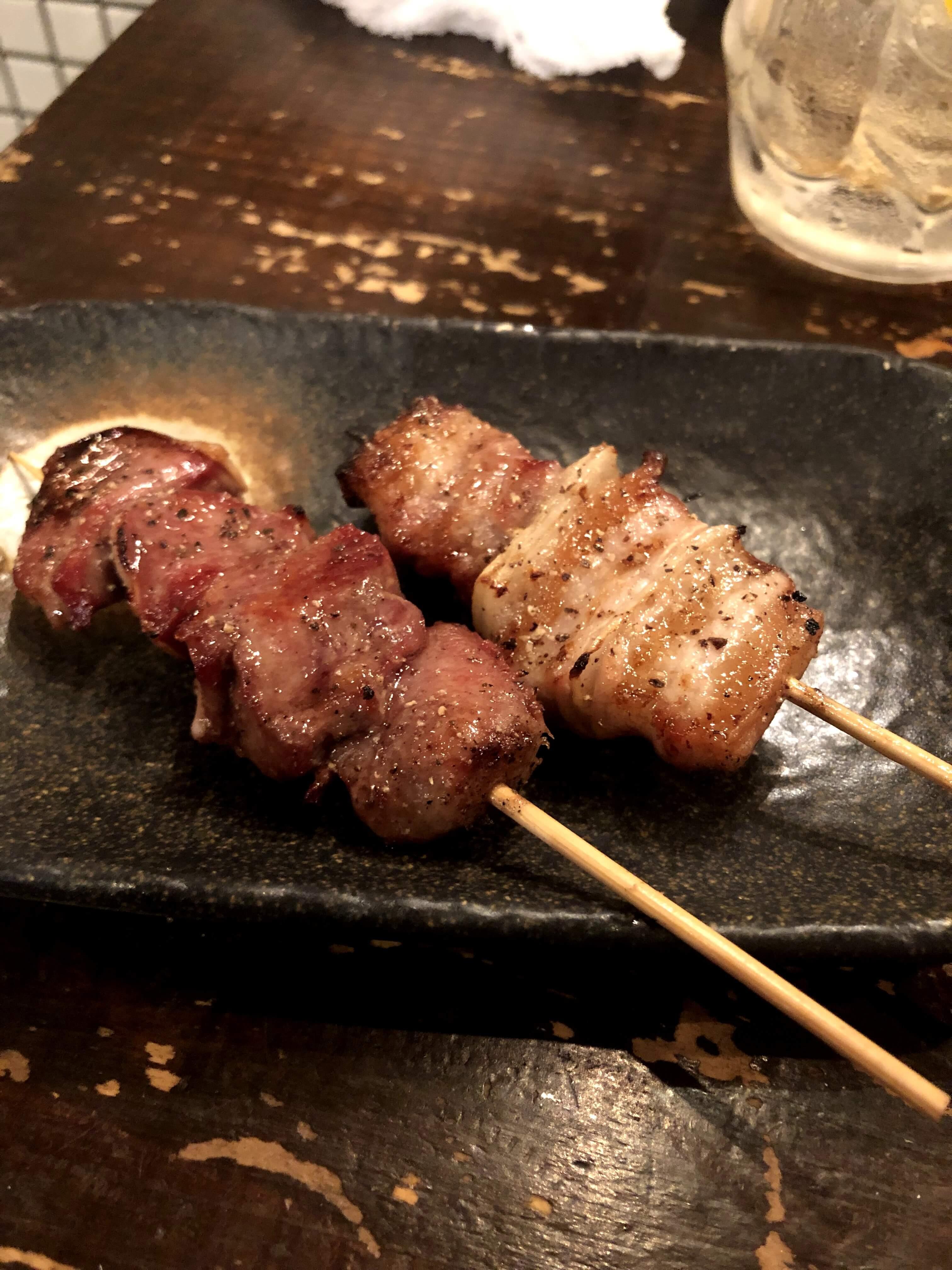 盛岡・串焼き屋「萬(YOROZU)」串焼き