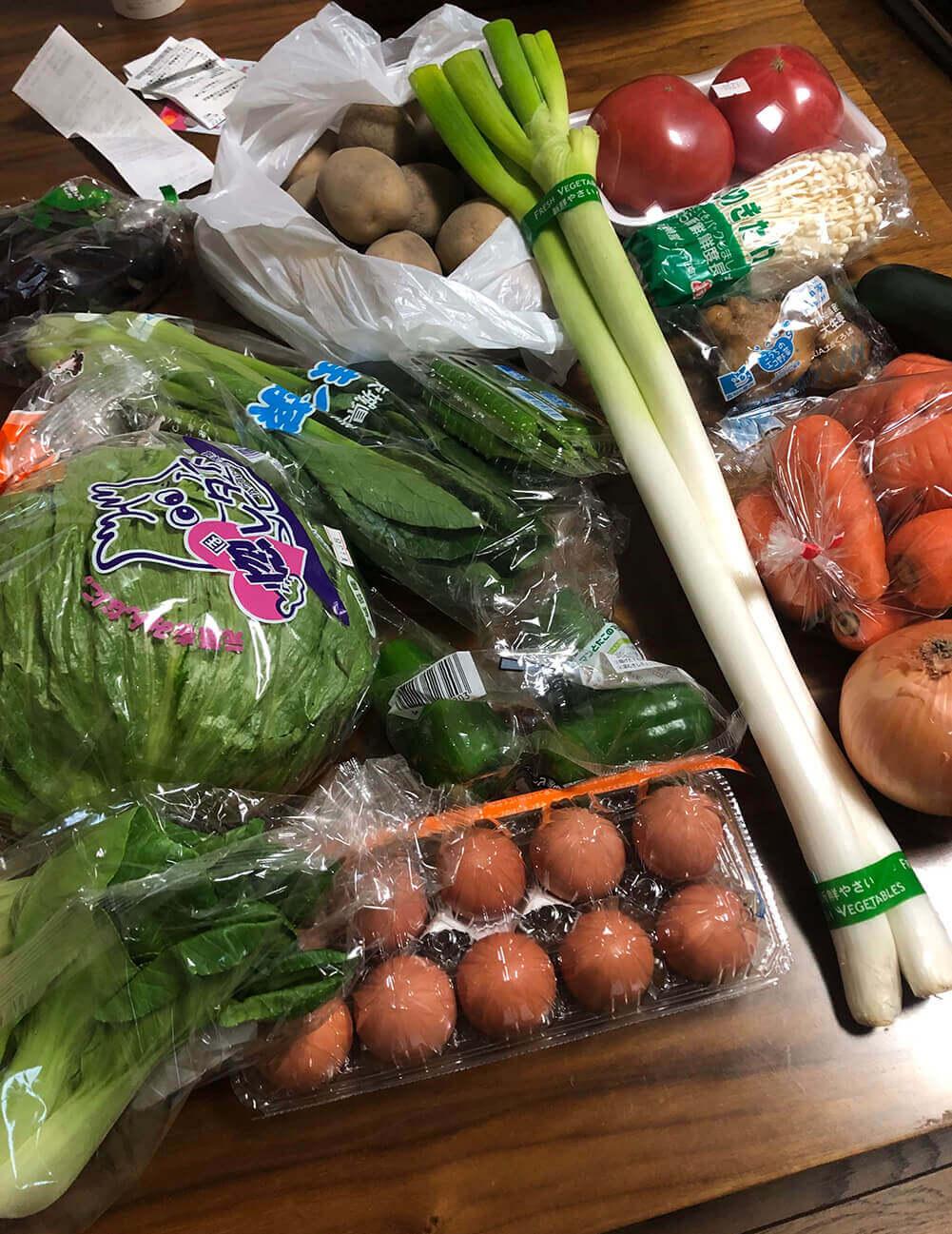 フルーツ&ベジー太子堂村で購入した野菜たち