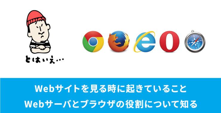 Webサイトを見る時に起きていること・Webサーバとブラウザの役割について知る