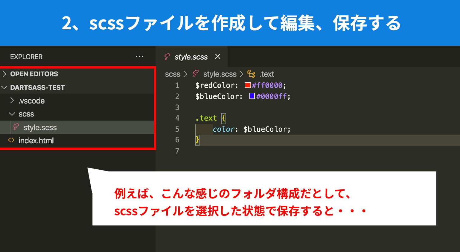 DartJS Sass Compiler and Sass Watcherの基本的な使い方