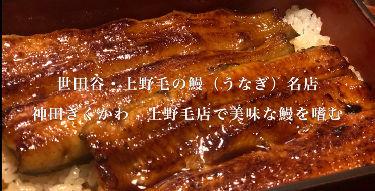世田谷・上野毛の鰻(うなぎ)名店・神田きくかわ上野毛店で美味な鰻(うなぎ)を嗜む