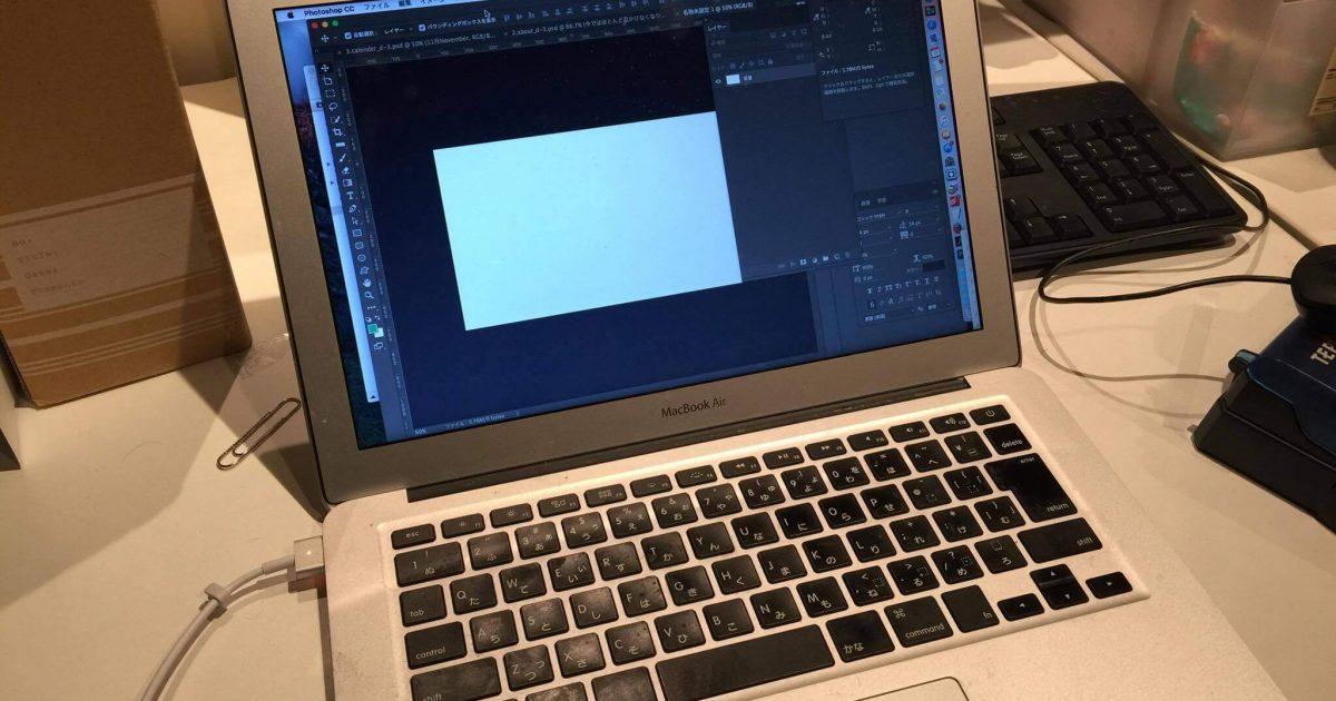 photoshopを開いたMac