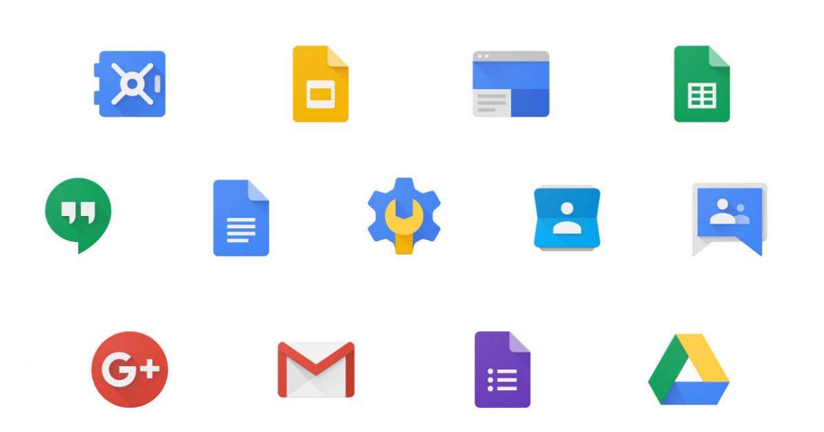 Google Apps のロゴたち