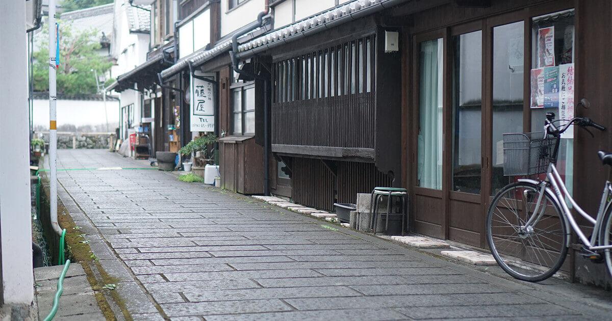 大分県竹田ゲストハウスcue周辺の街並み