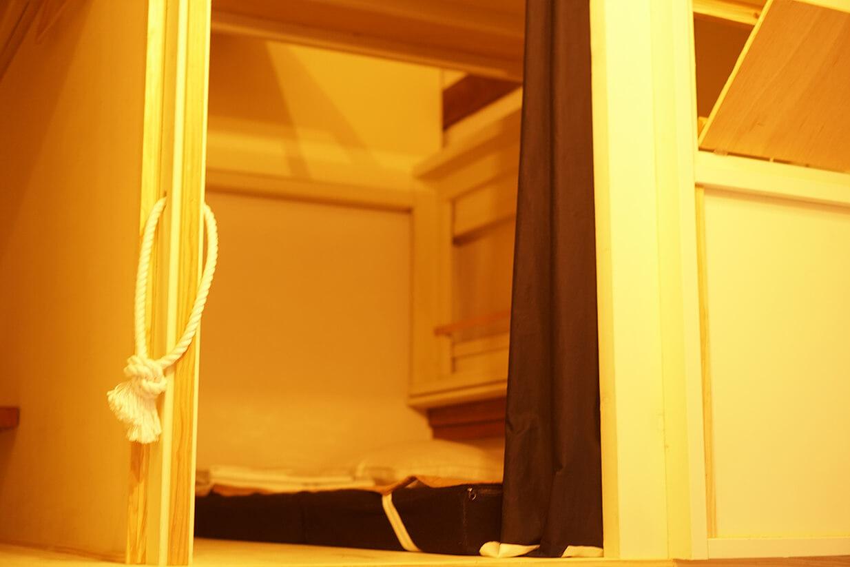 大分竹田ゲストハウスCueドミトリータイプの寝場所