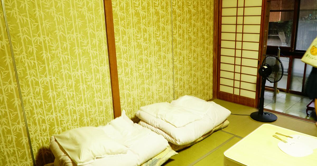 熊本県水俣市ゲストハウスtojiya宿泊部屋