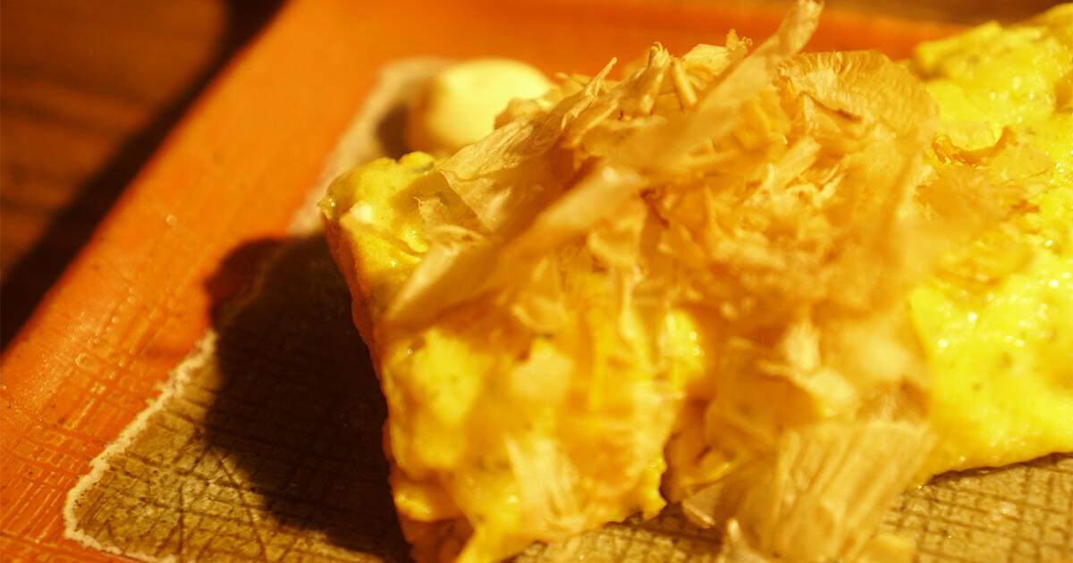 熊本県水俣市ゲストハウスtojiya前の屋台で食べた卵焼き