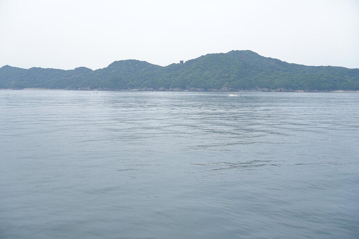 鳥羽到着直前に見える島たち