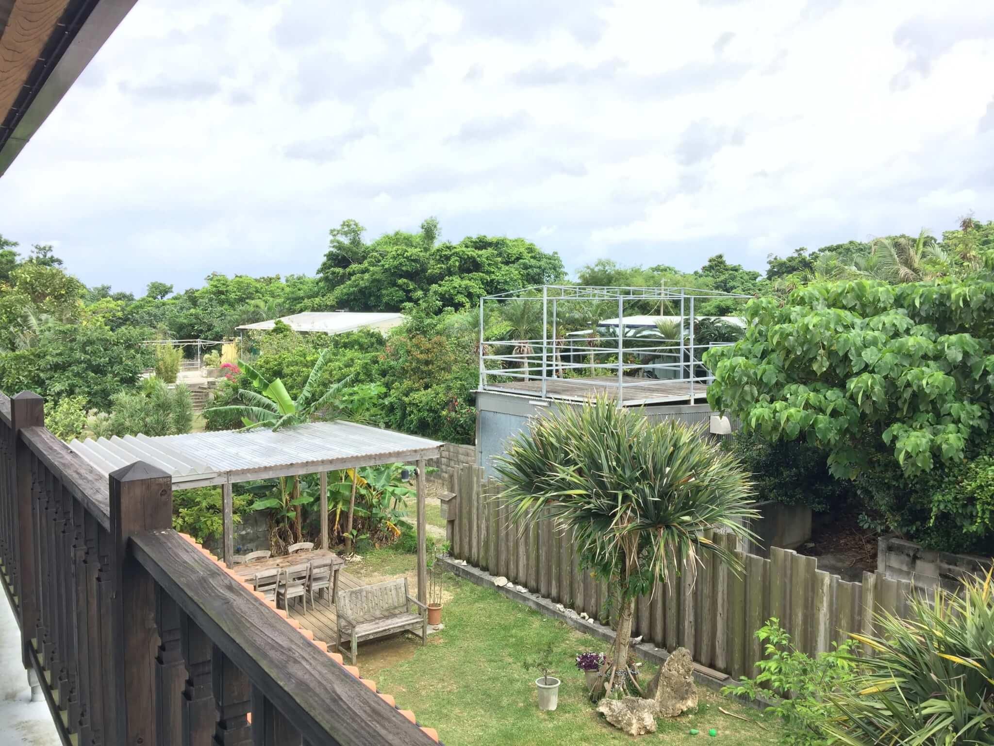 石垣島ゲストハウス棲家まーるから見える景色
