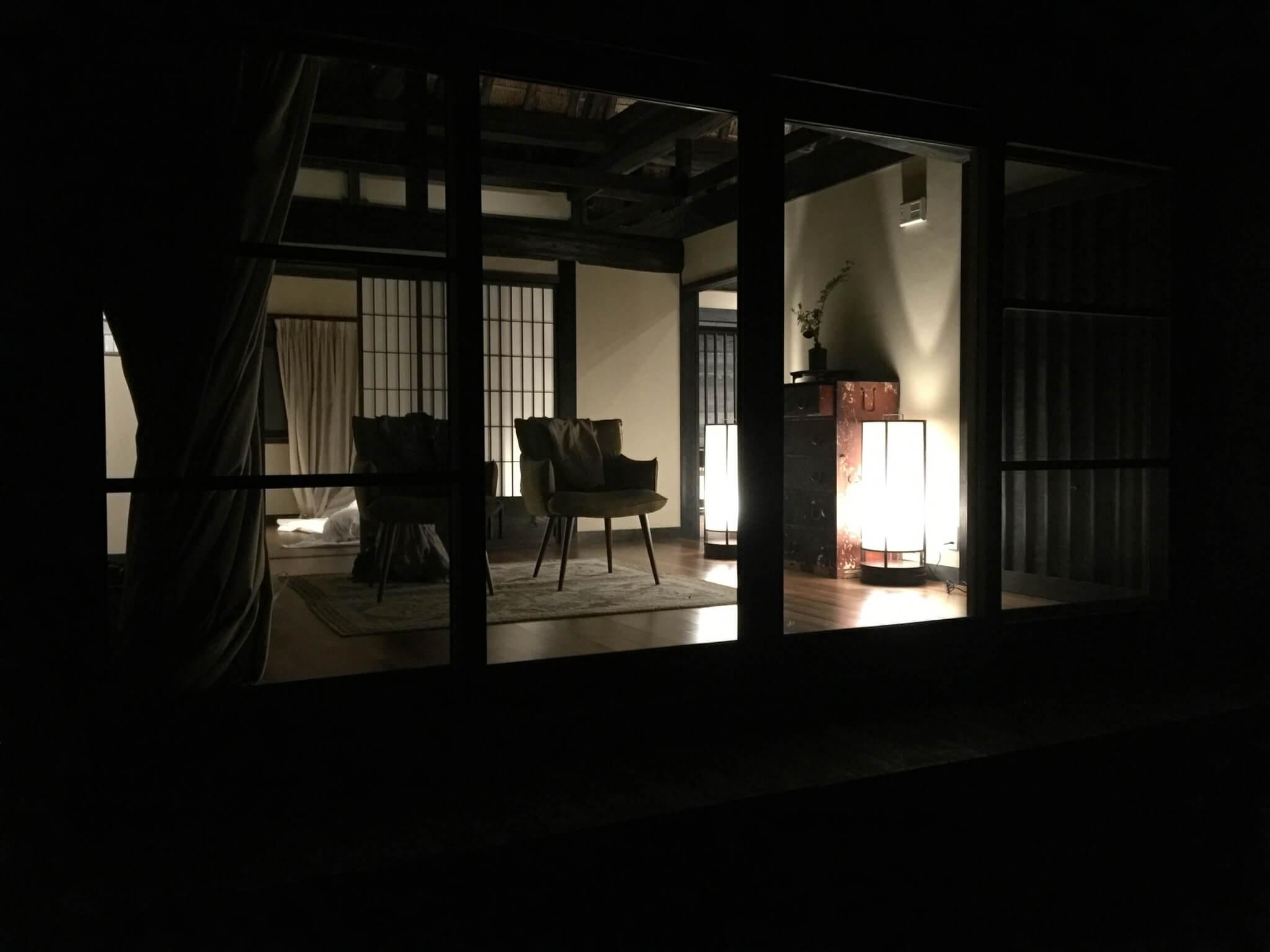 徳島・桃源郷祖谷の山里の天一方の内装