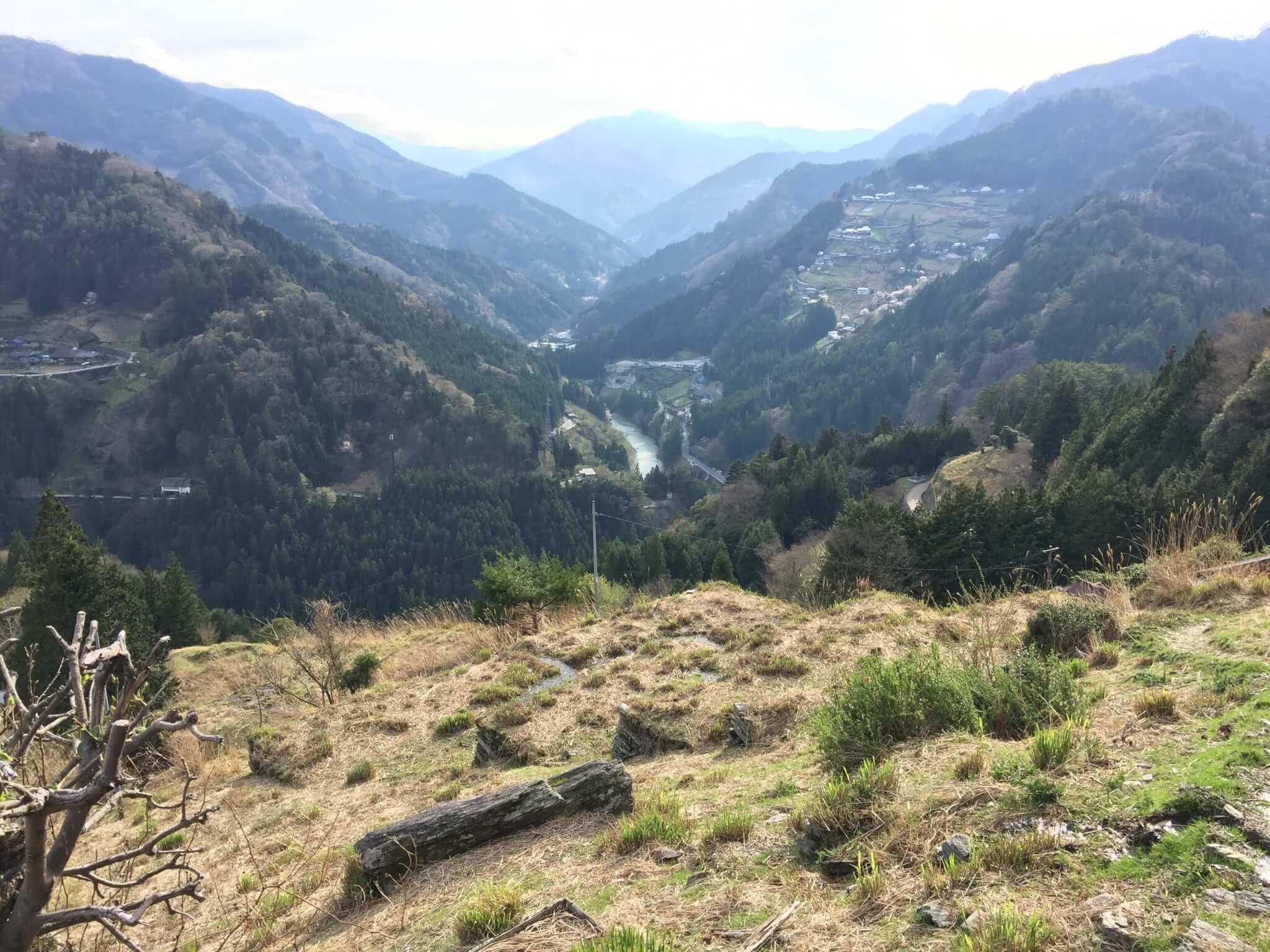 徳島・桃源郷祖谷の山里から見える景色