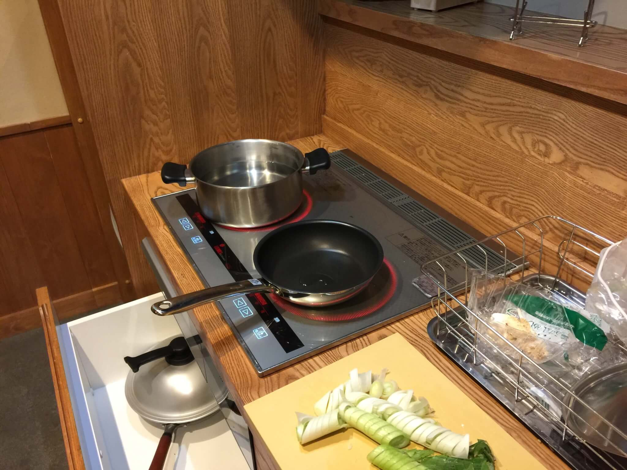 徳島・桃源郷祖谷の山里の天一方のキッチン