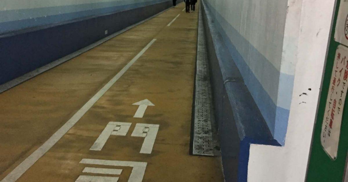 関門海峡人道、下関側のスタート地点
