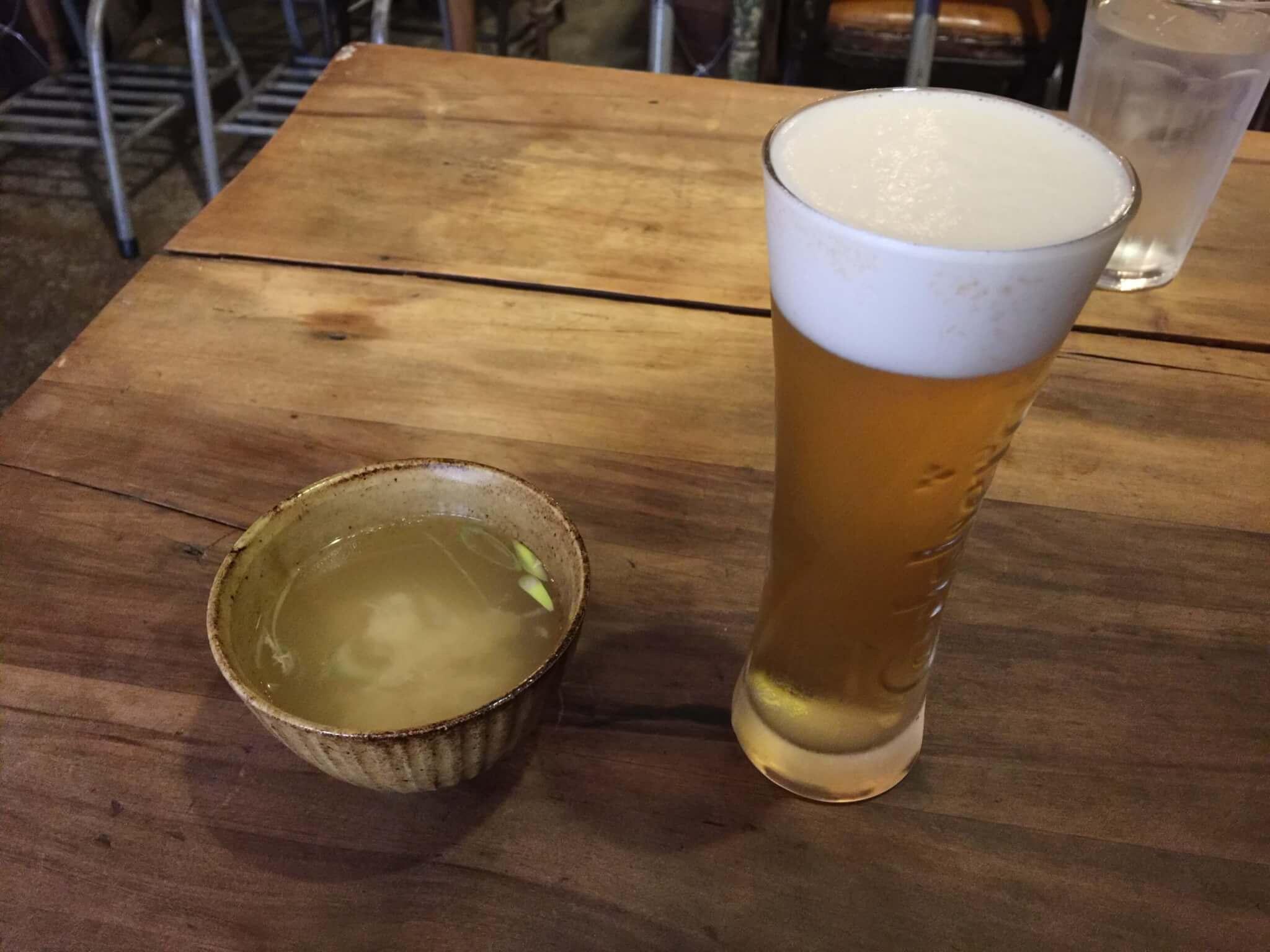 鹿児島zingaroで頼んだビール