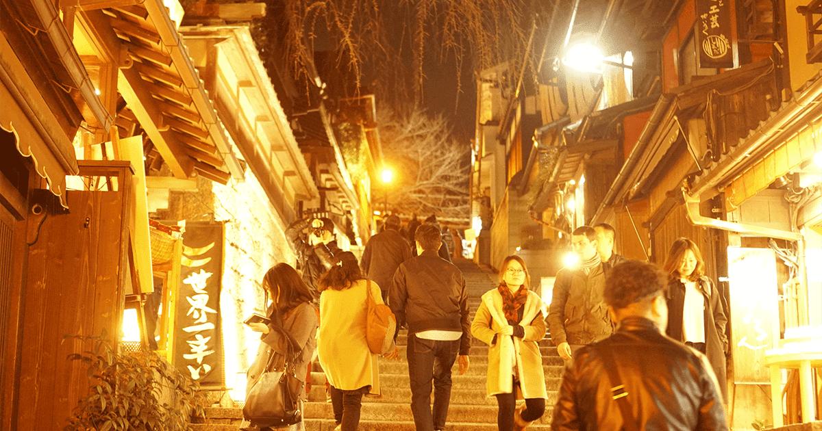 京都・花灯路の様子