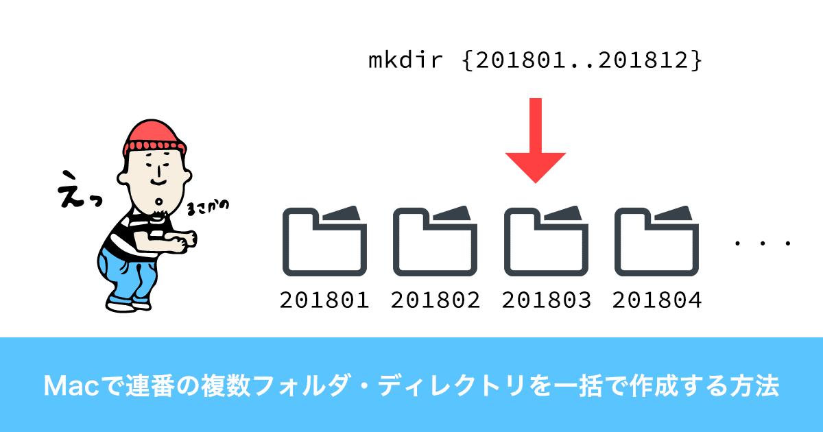 Macで複数フォルダを連番形式で一括作成する方法