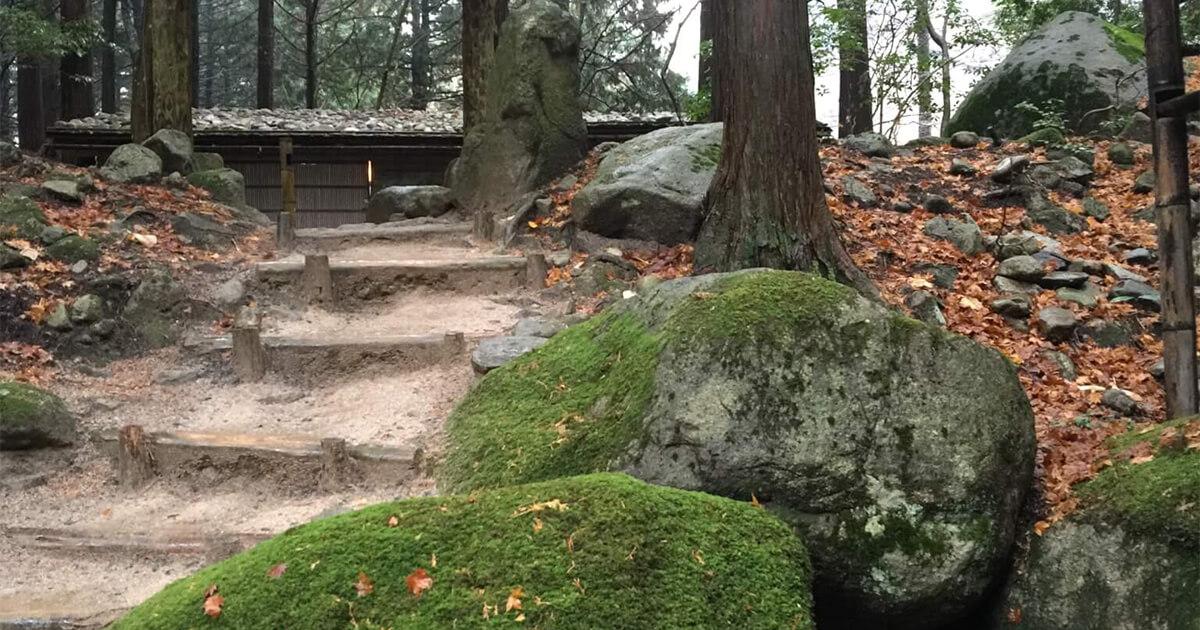 鳥取・智頭町のみたき園の中