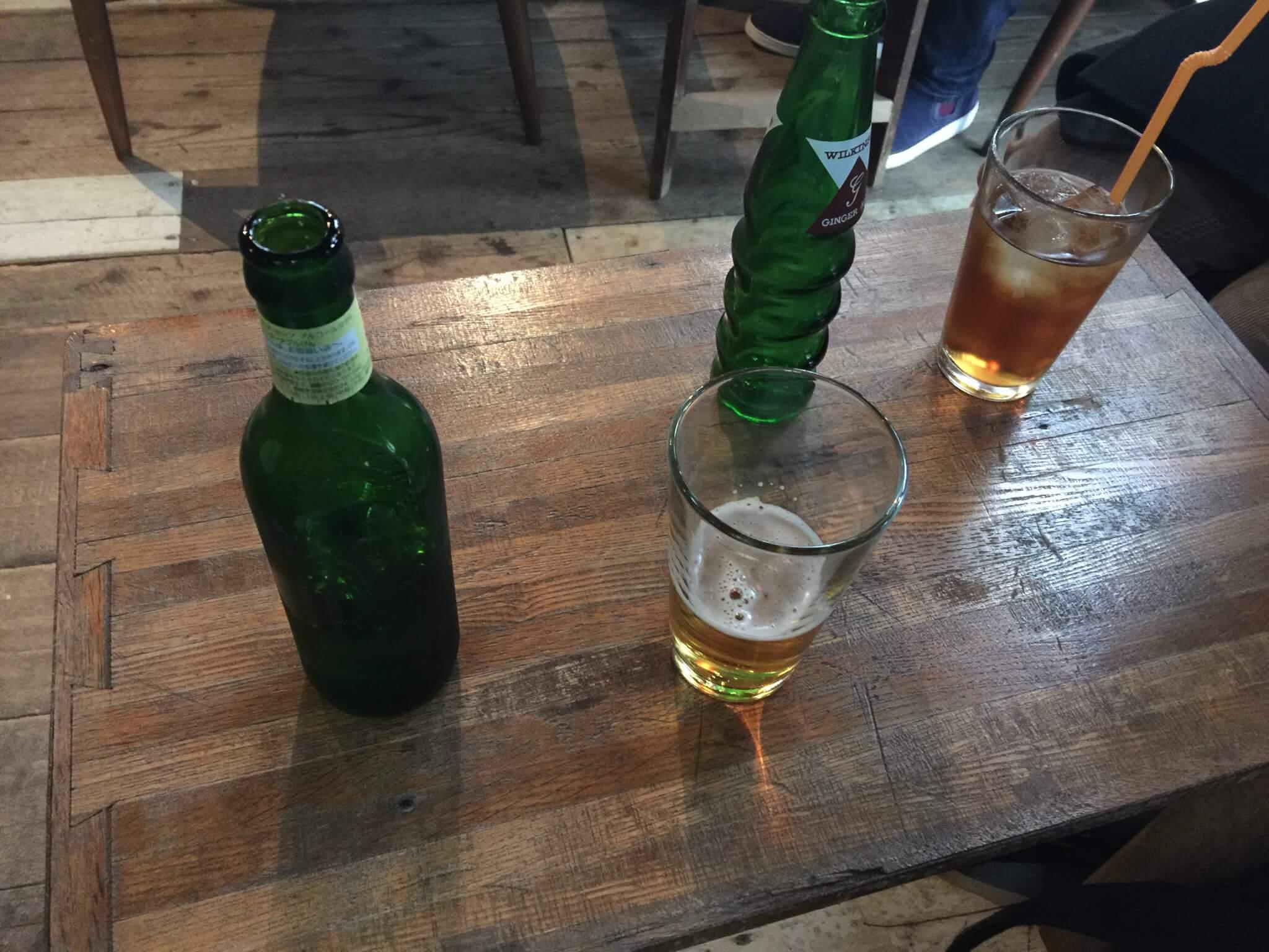 なんじゃもんじゃカフェで飲むハートランドビール