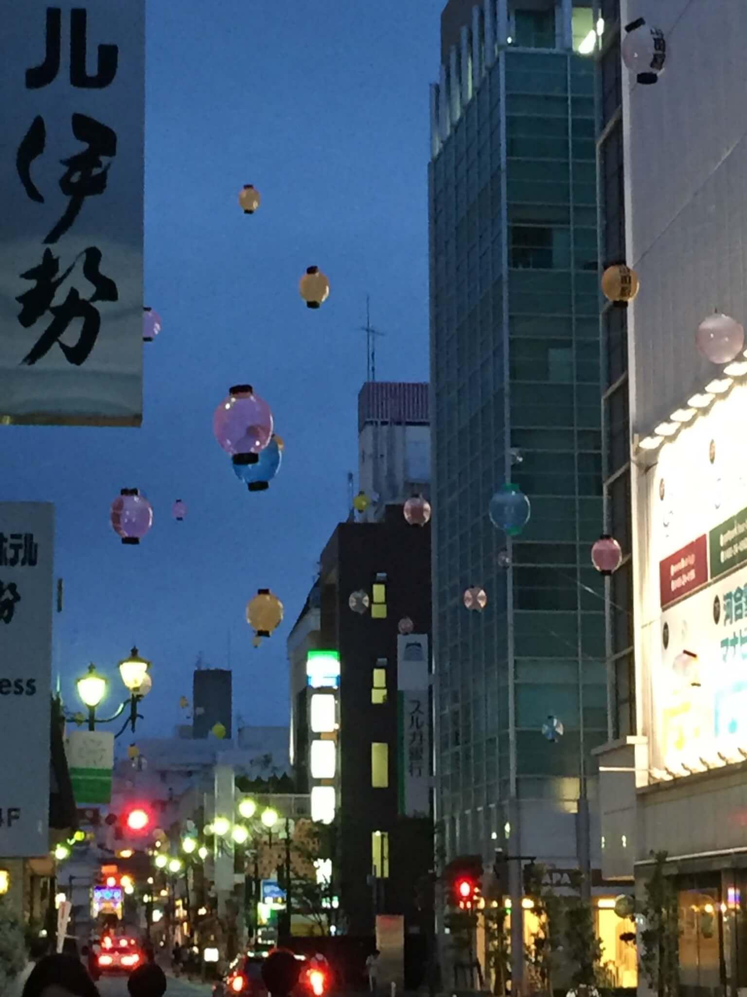 ゴールの小田原駅周辺の風景