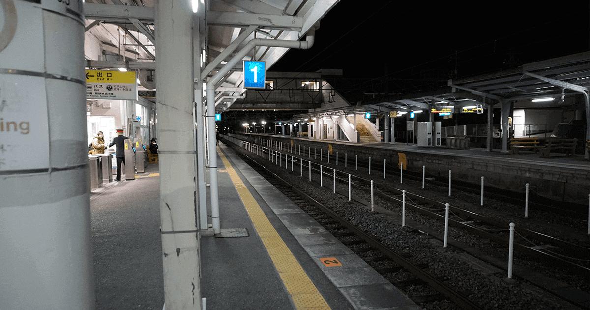 早朝の和歌山駅