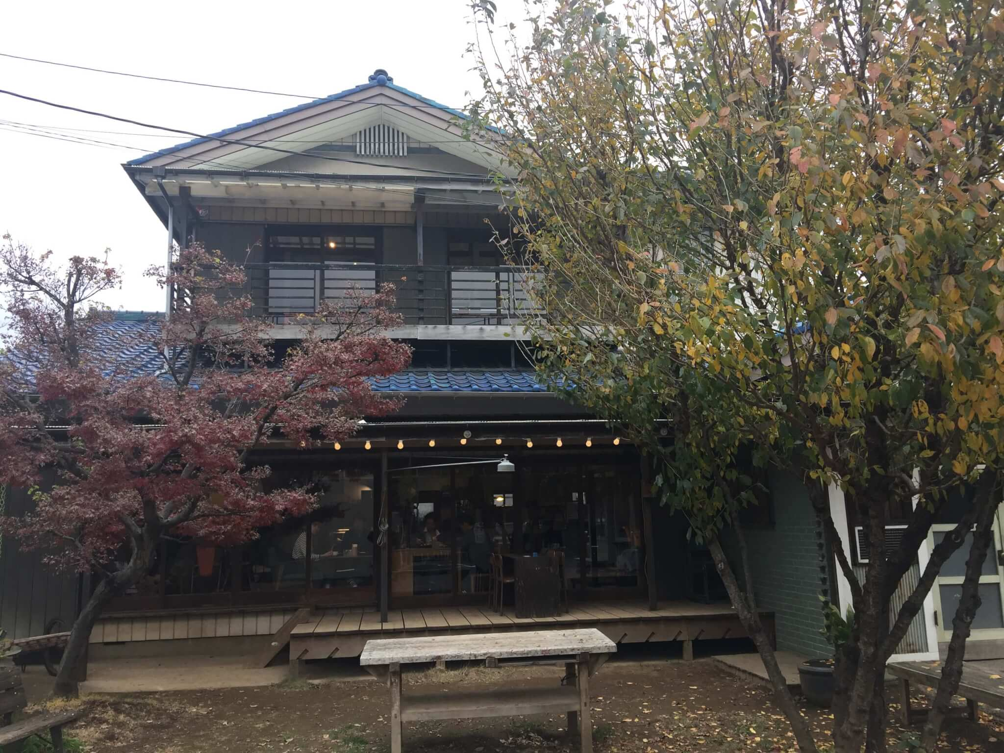 senkiya(千木屋)さんのカフェの正面図