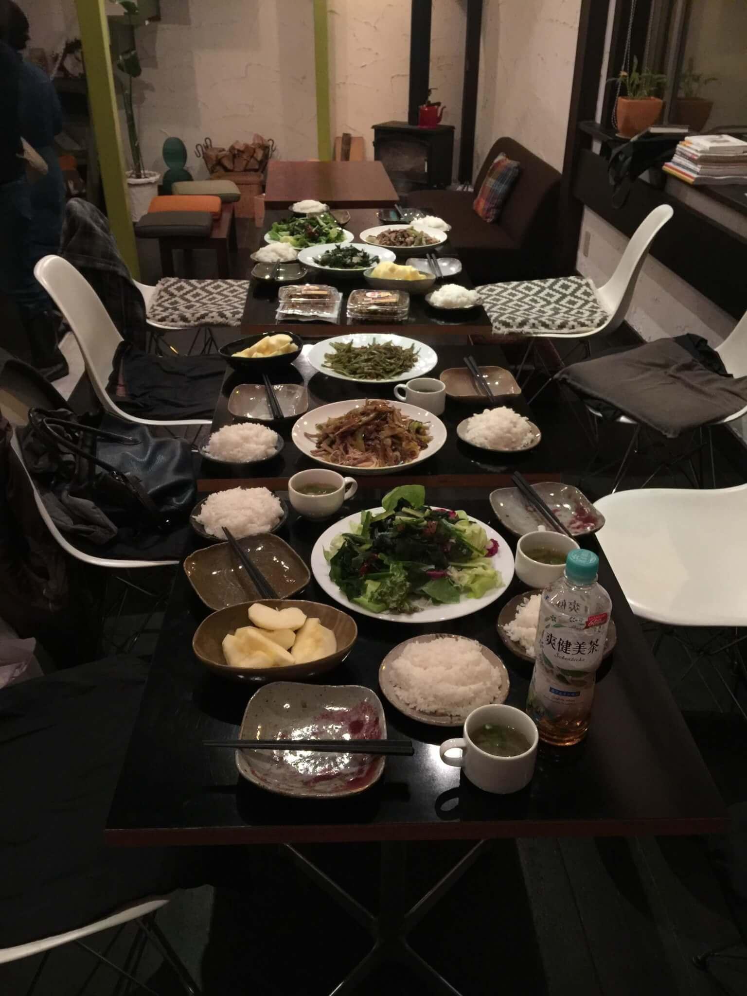 瀬戸内0円キッチンで提供された料理