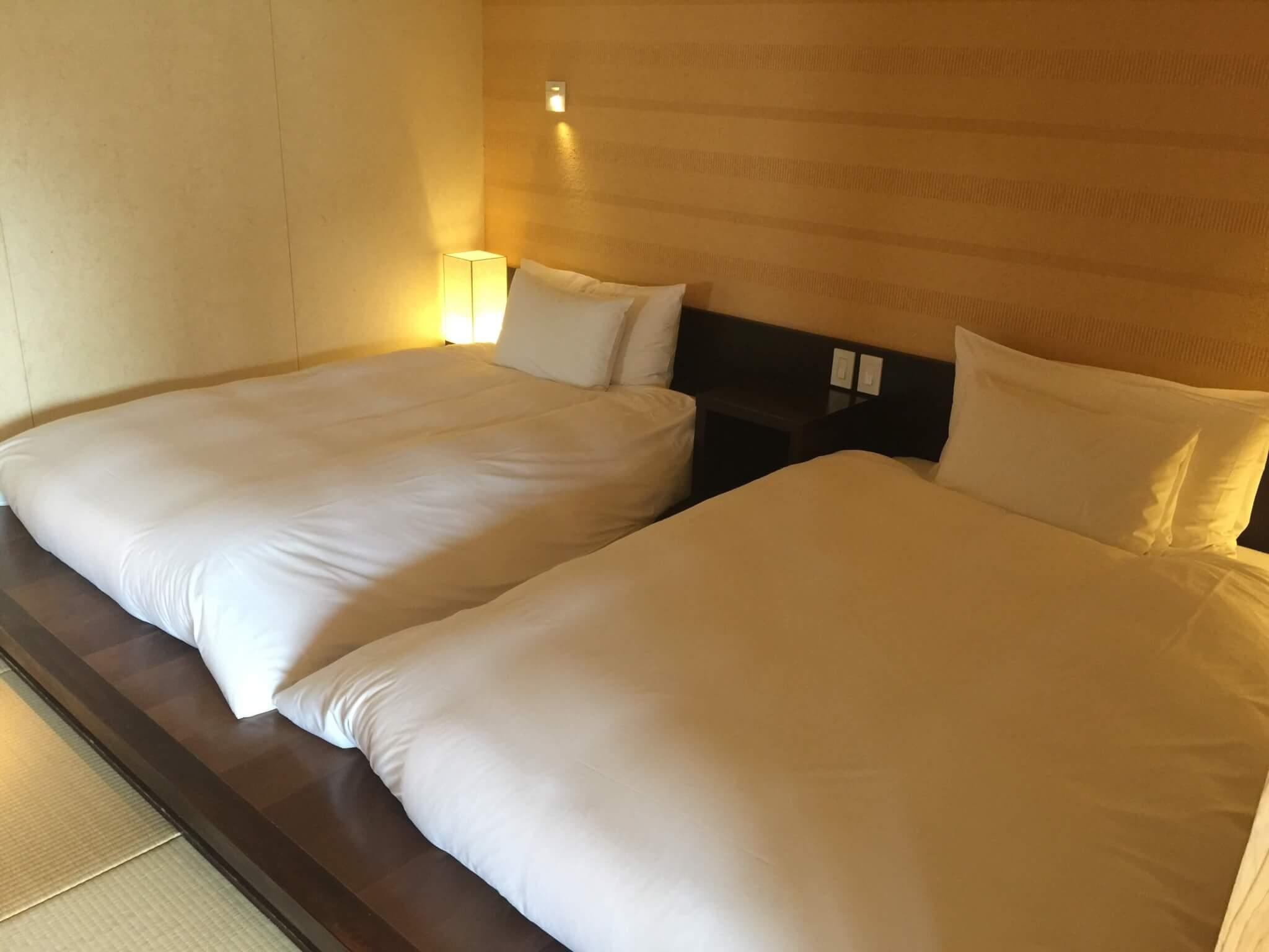 竹富島・星のやで宿泊した部屋の寝室