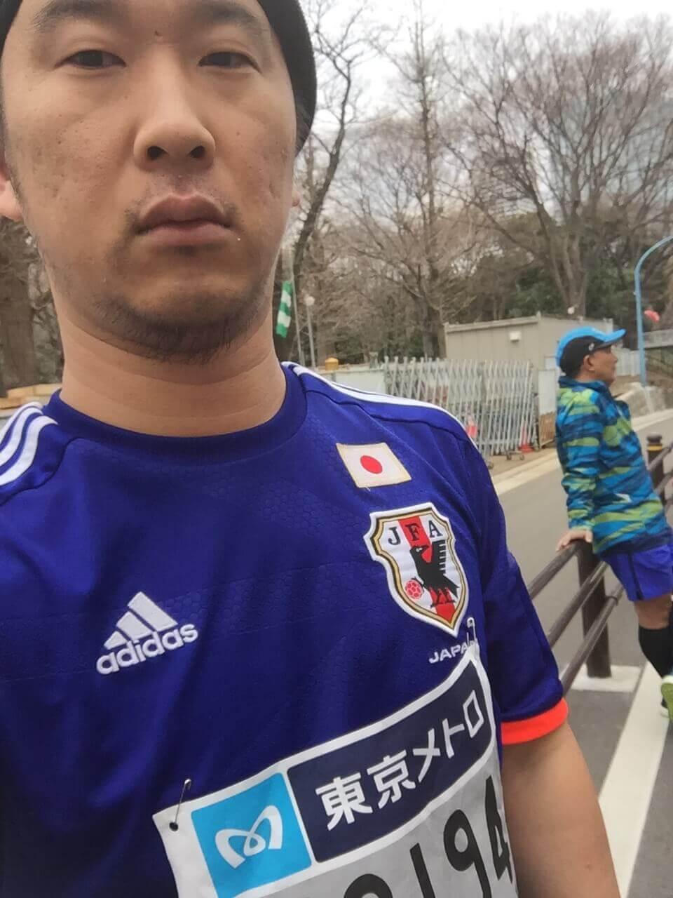 東京マラソンのゼッケンを装着!