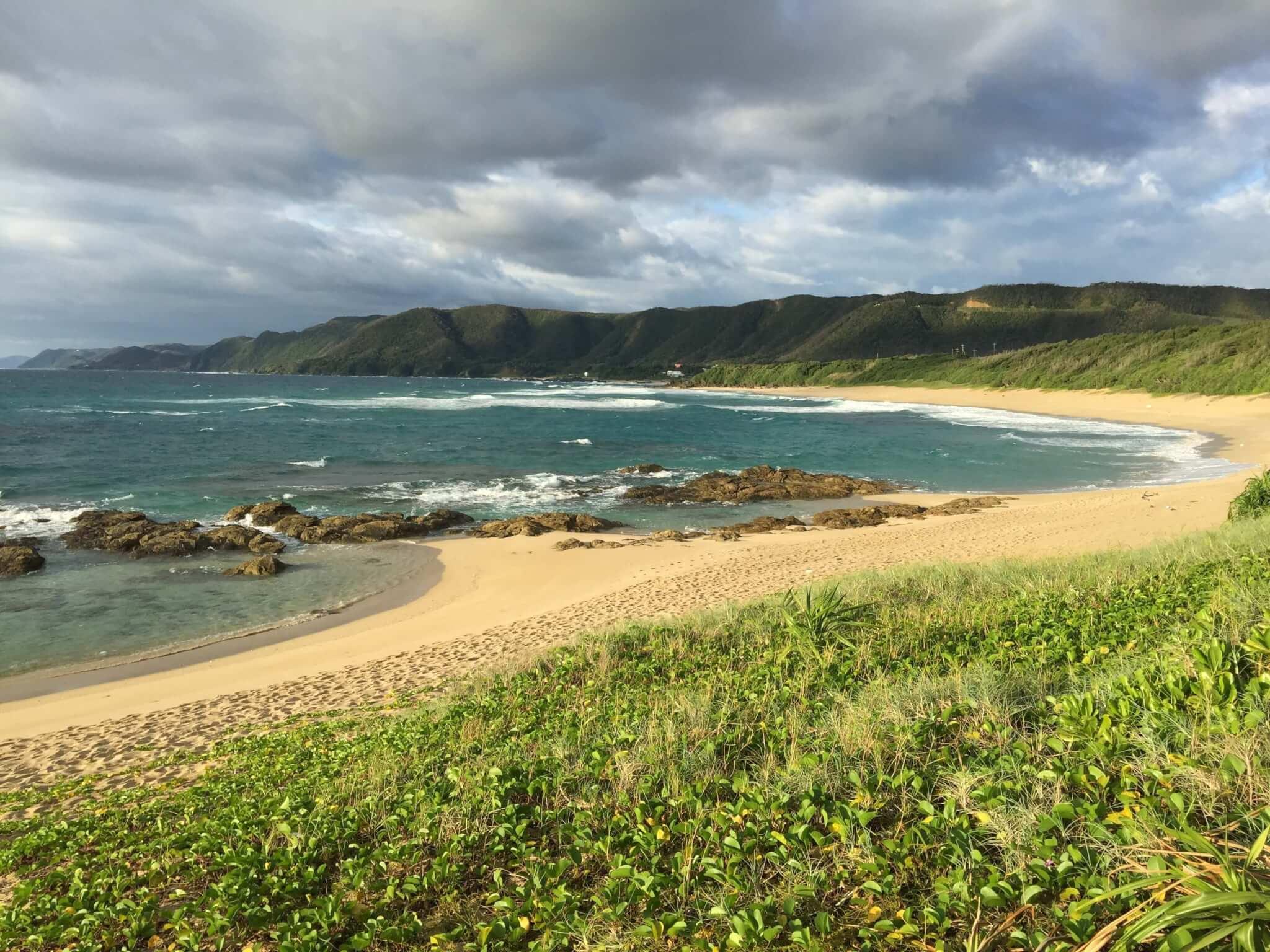 奄美大島ゲストハウスうふたさんの近くの海